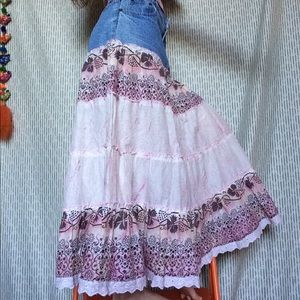 Vintage Skirts - Country Girl Mix Nouveau Cowgirl Maxi Skirt